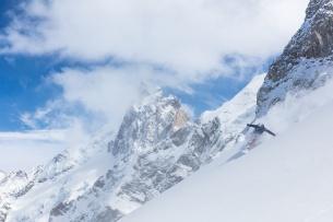 Freeride ski at La Grave