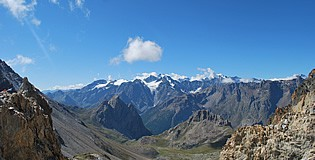 View of Col des Béraudes