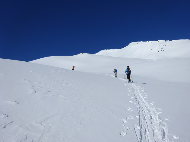 Ski touring in Clarée Valley