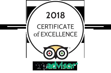 Tripadvisor Certificate of excellence Le Chalet d'en Hô***