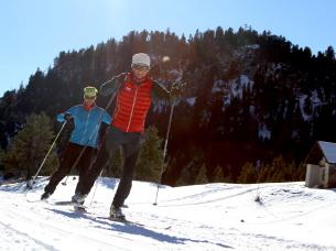 Cross-country ski in Névache