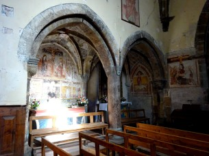 Fifteenth century wall paintings in church St Marcellin