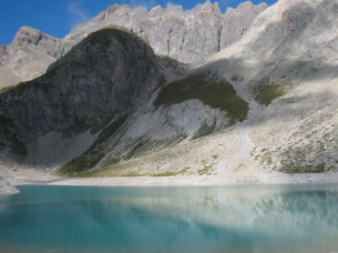 The Béraudes Lake during the self-guided holiday of 5 days