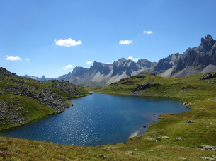 Lac Long during the Relaxing self-guided hiking holiday