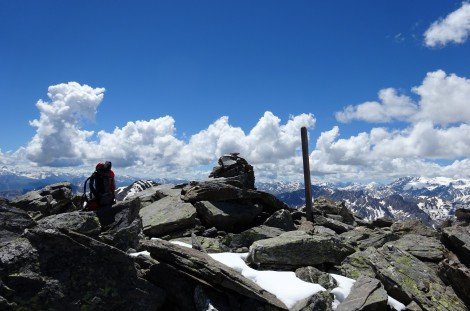 At the top of the Pic du Lac Blanc