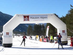 Race of Cross Country Skiing in Névache