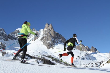 Cross Country Skiing in the high Clarée valley