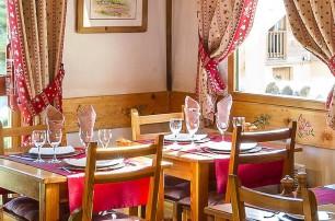 Restaurant of the Chalet d'en Hô in Névache
