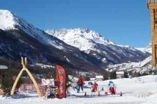 Ski School for children in Névache