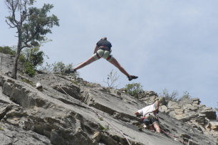 Rock climbing in the Claree valley