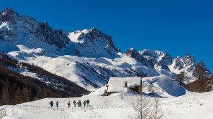 Snowshoeing in the Clarée valley