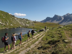 Walking in family in the Clarée valley