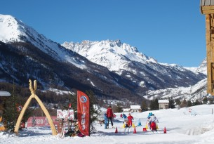 Start of the Cross Country Ski pistes near the Chalet d'en Hô