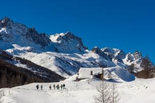 Snowshoeing in Nevache Névache